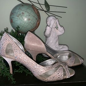 Shoes - rose gold sparkle inch heels